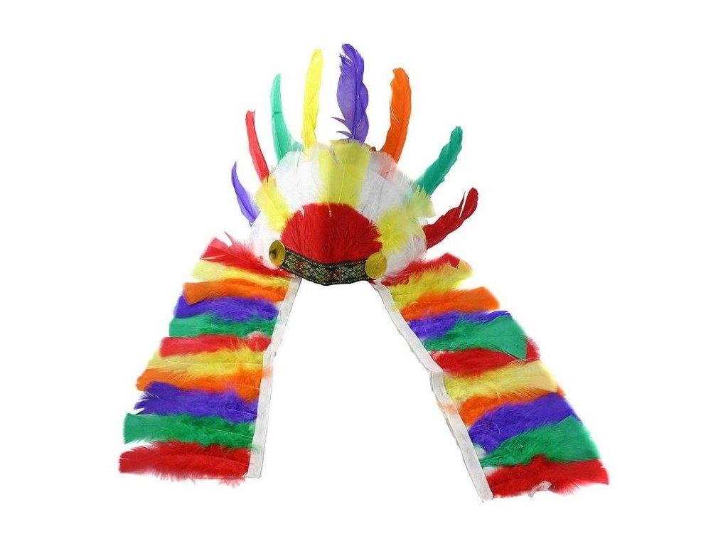 Čelenka indiánská - Apač - barevná