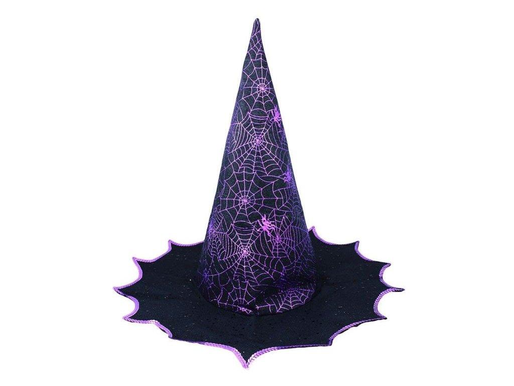 Klobouk čarodějnice - čaroděj - fialový - dospělý - Halloween