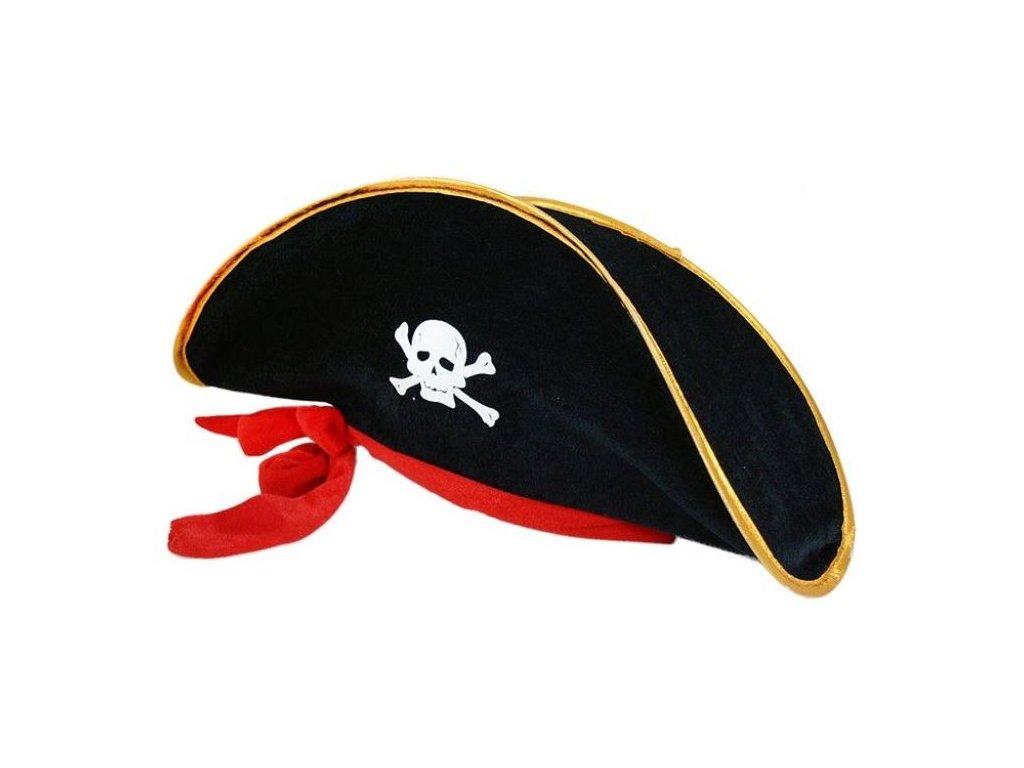 Klobouk kapitán pirát se stuhou dospělý