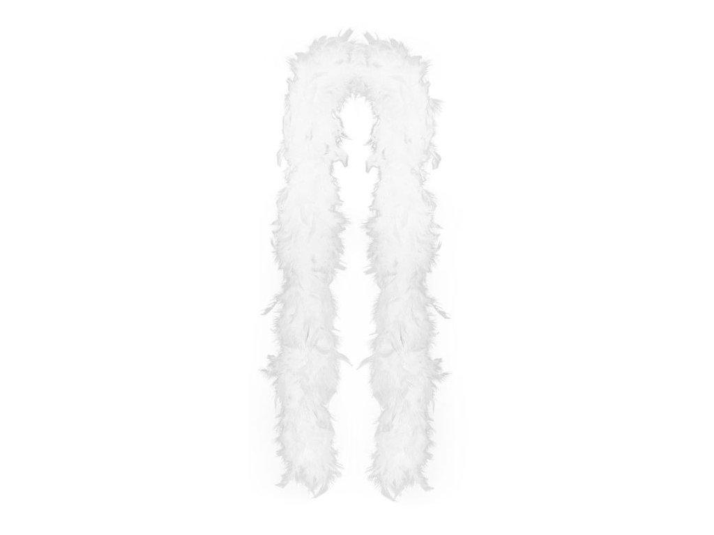 Boa bílé s peřím 180 cm - Charlestone