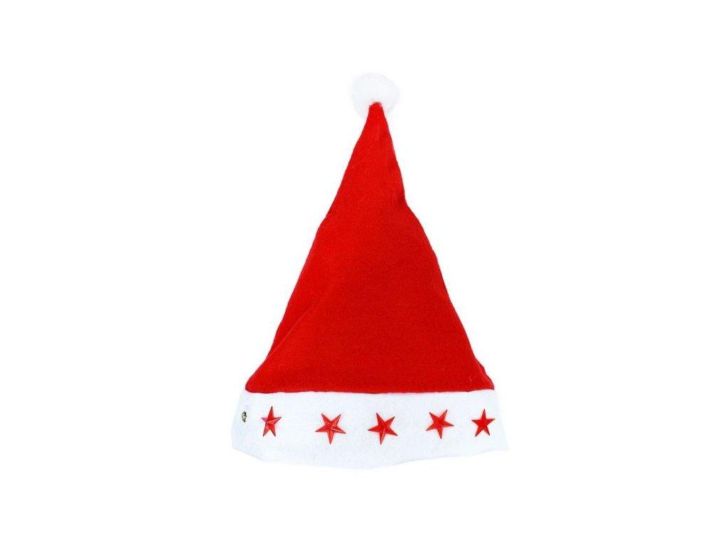 Čepice vánoční blikající - Mikuláš - Santa claus - vánoce