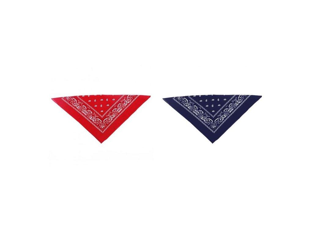 šátek kovbojský - červený - 53x53 cm
