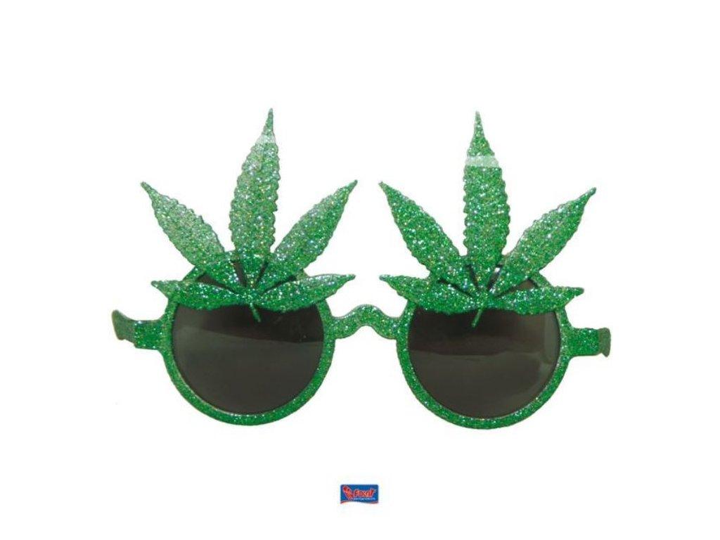 Párty brýle s konopnými listy - marihuana