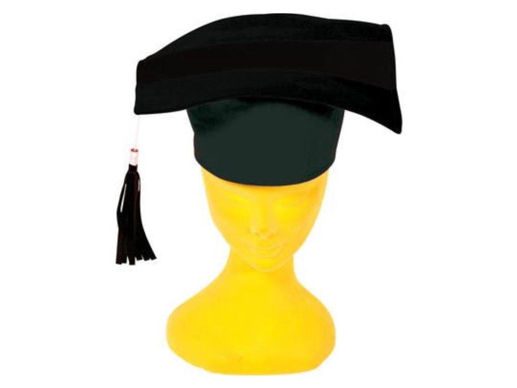 Čepice černá promoce - unisex