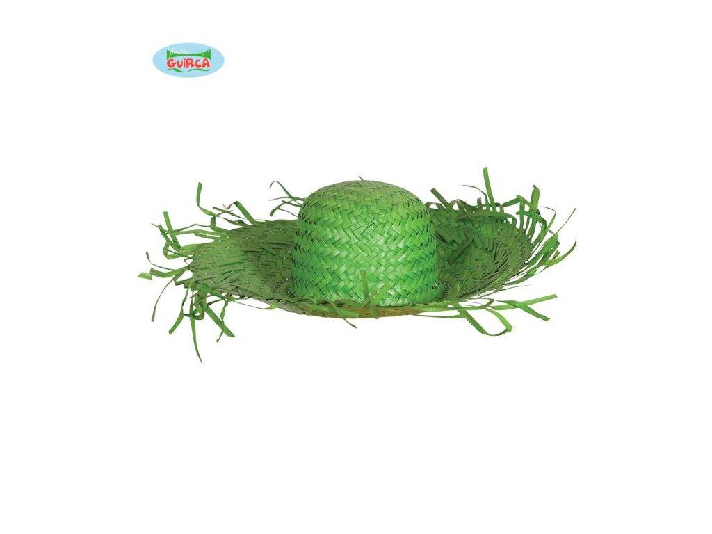Slaměný klobouk - zelený