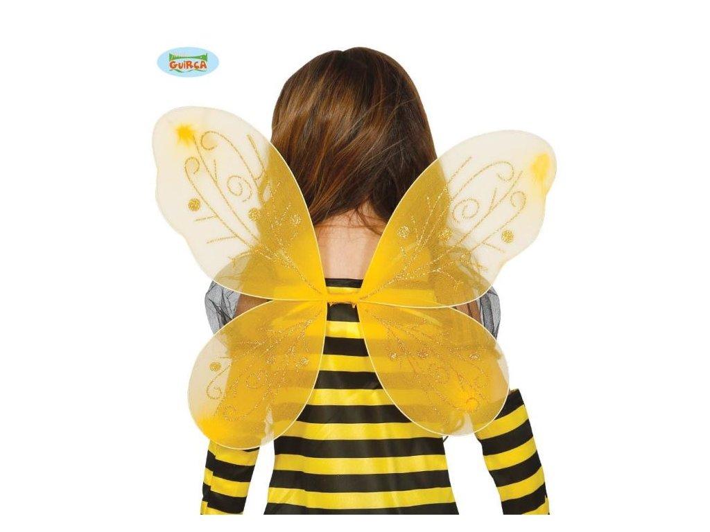 Dětské křídla včelka žluté - 44 x 35 cm