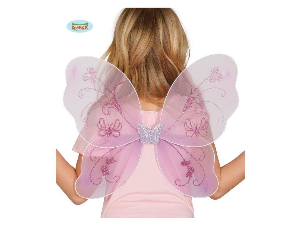 Dětské křídla víla fialové - 48 x 35 cm