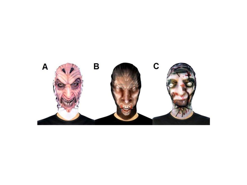 Strašidelná maska Halloween