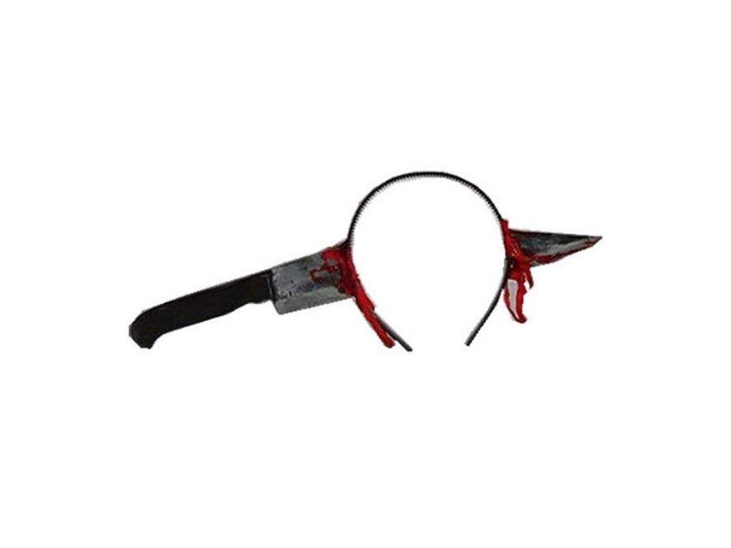Čelenka - krvavý nůž - Halloween