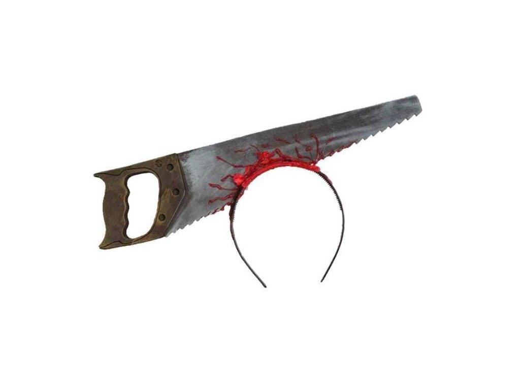 Čelenka - krvavá pila - Halloween