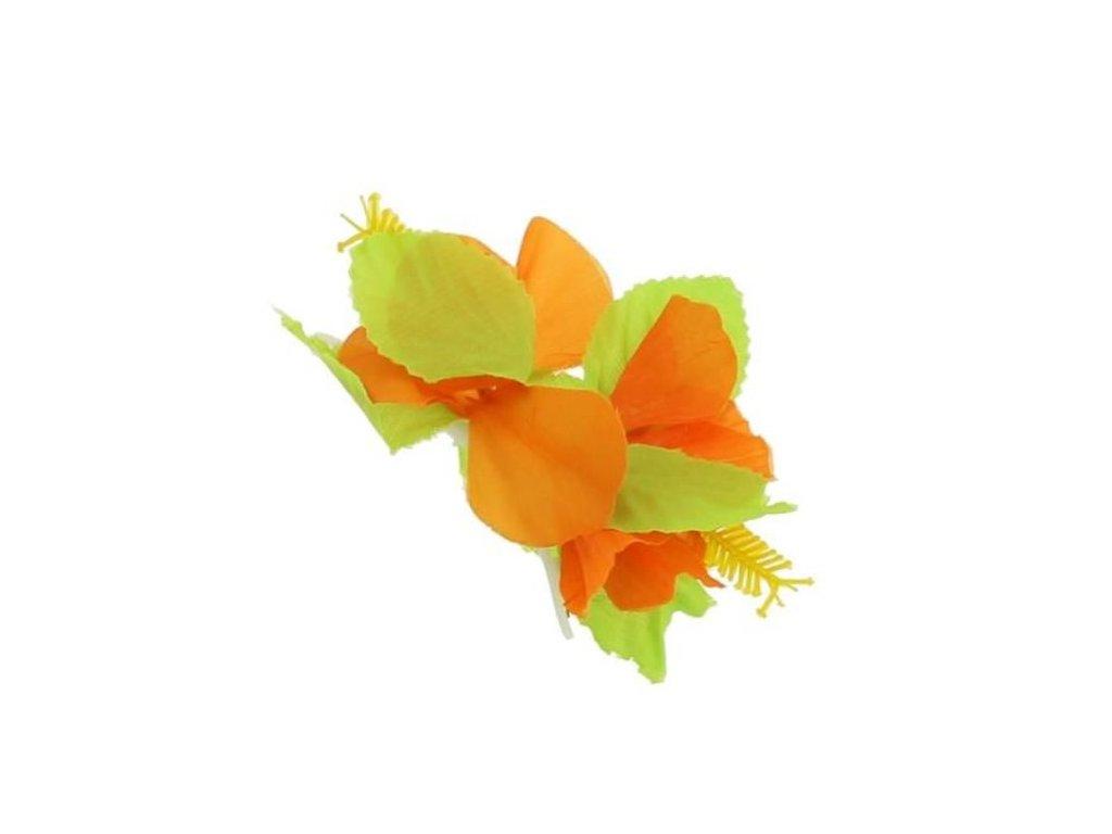 Spona do vlasů Havajská malá oranžová - Hawaii