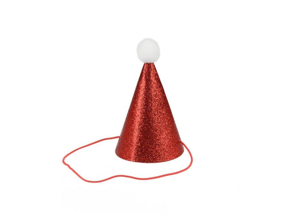 Vánoční brokátový klobouček - vánoce