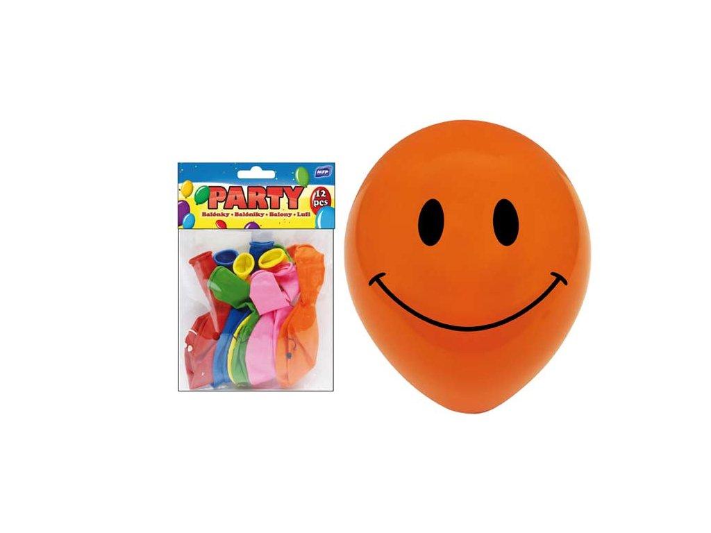 balónek nafukovací 12ks sáček smile 23 cm mix 8000108
