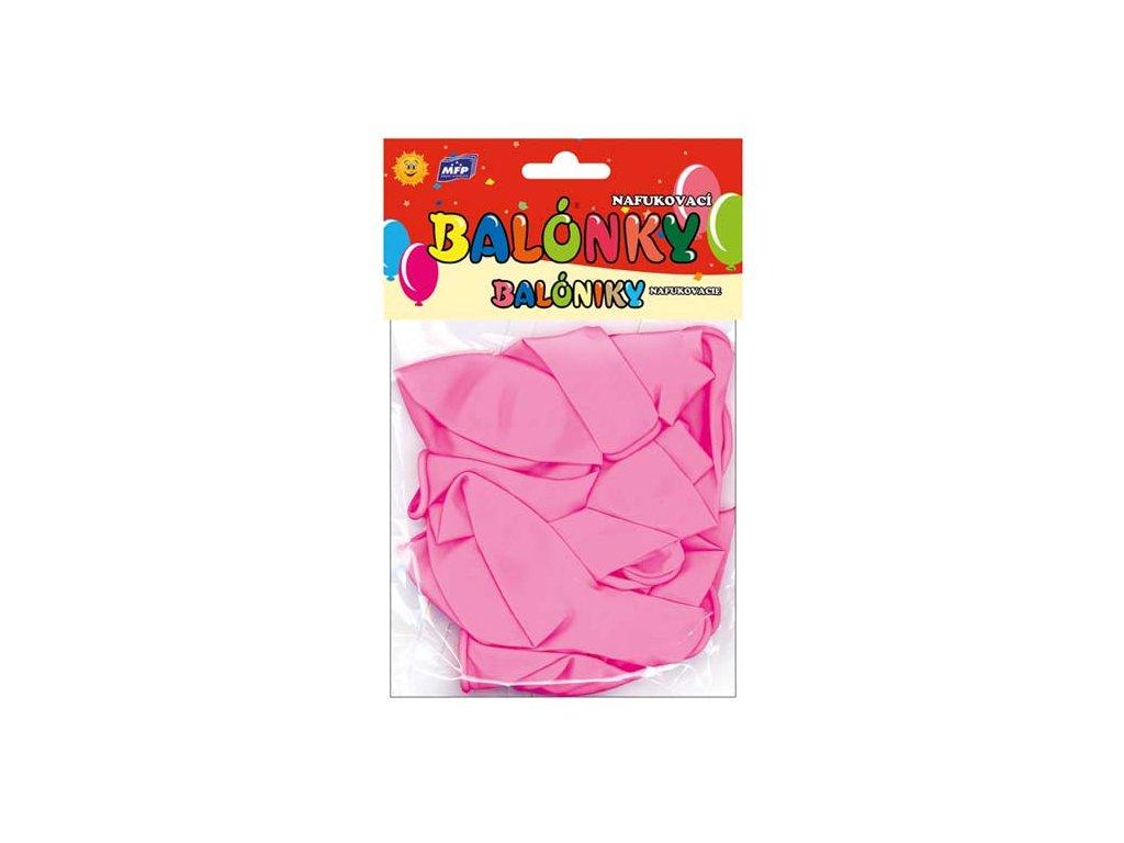 balónek nafukovací 12ks sáček standard 30cm růžový 8000123