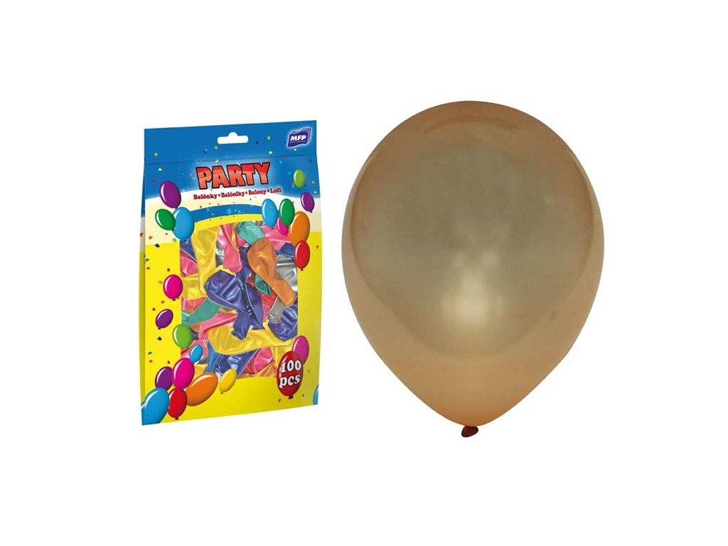 balónek nafukovací metal 23cm mix 8000105
