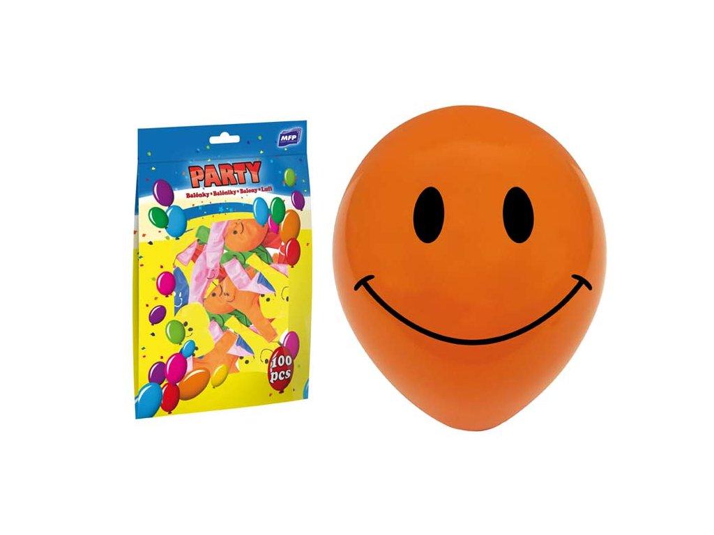 balónek nafukovací smile 23cm mix 8000107