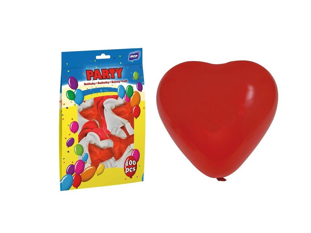 balónek nafukovací srdce 30cm mix 8000109