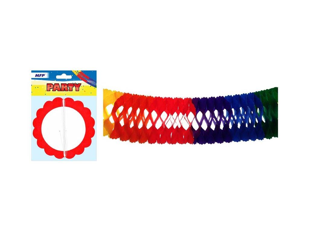 girlanda papír G02 barevná 4m (14,5 x 14,5 cm) 1041909