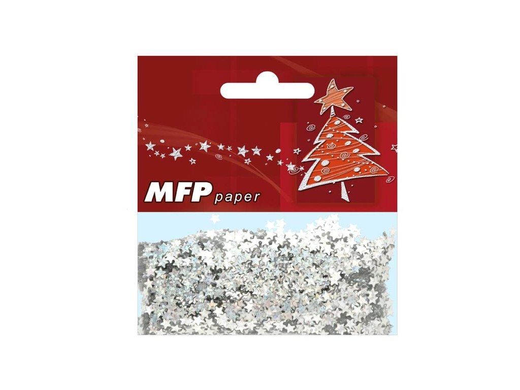 konfety AY09-A1228 S stříbrné hvězda 20g metal 8885046