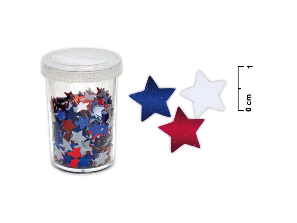 konfety hvězdičky 25g mix barev 8885413