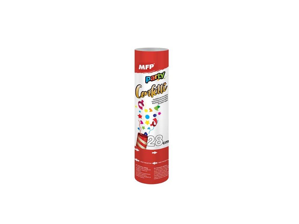 konfety vystřelovací 28cm papír - vzduch 1042011