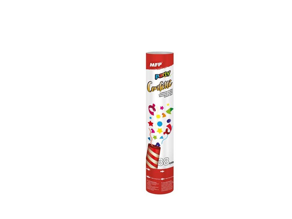 konfety vystřelovací 38cm papír - vzduch 1042012
