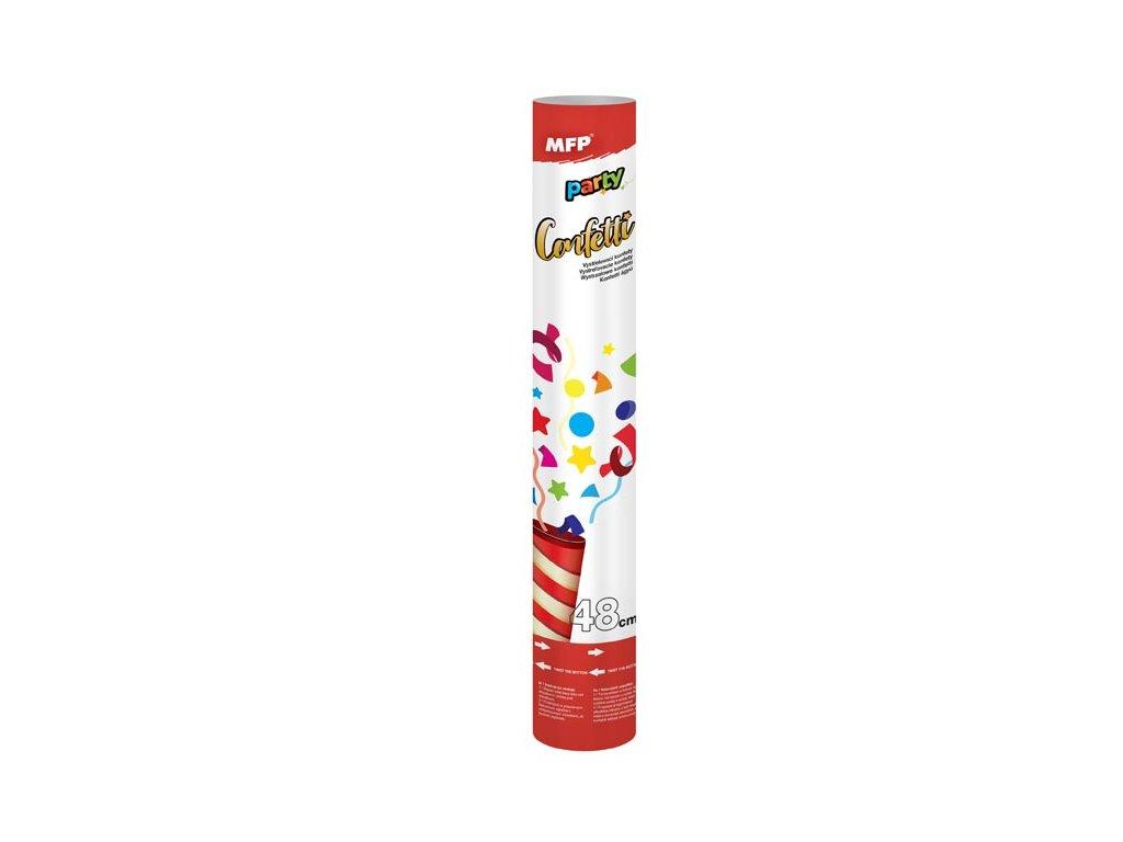 konfety vystřelovací 48cm papír - vzduch 1042013