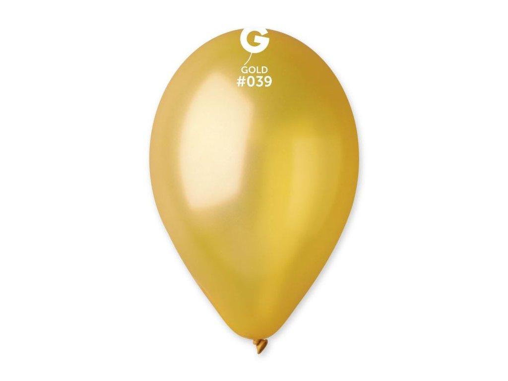 Balonky metalické 100 ks zlaté - průměr 26 cm