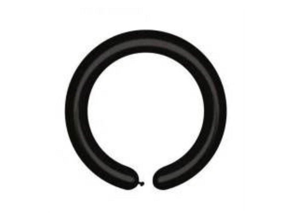 Balonky modelovací pastel ÚZKÉ – 160Q černé 100 ks