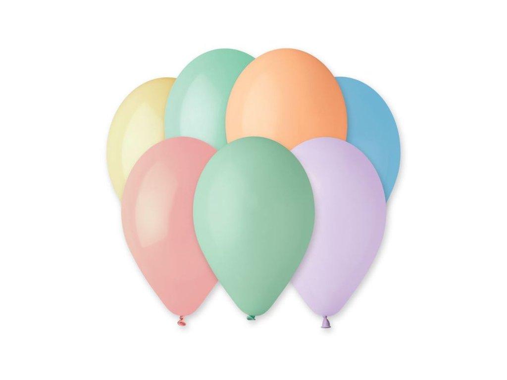 Balonky 100 ks MAKRONKY MIX 26 cm pastelové