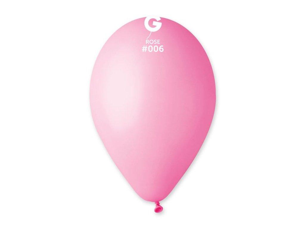 Balonky 100 ks SVĚTLE RŮŽOVÉ 26 cm pastelové