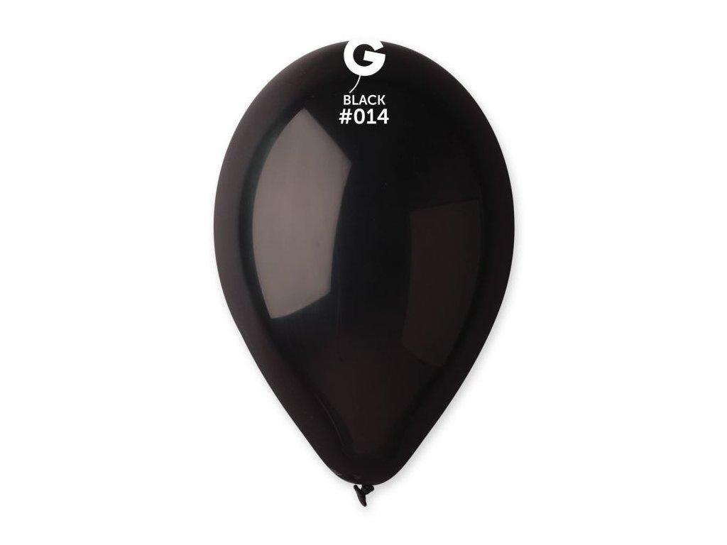 Balonky 100 ks ČERNÉ 26 cm pastelové