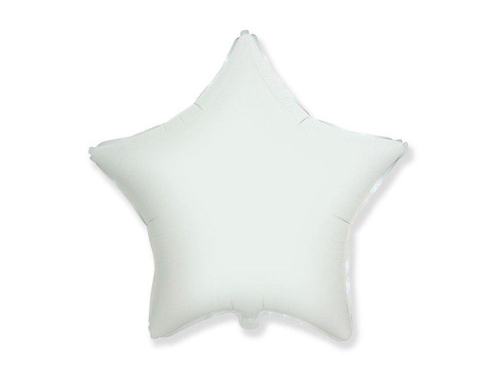 Balón foliový 45 cm Hvězda bílá