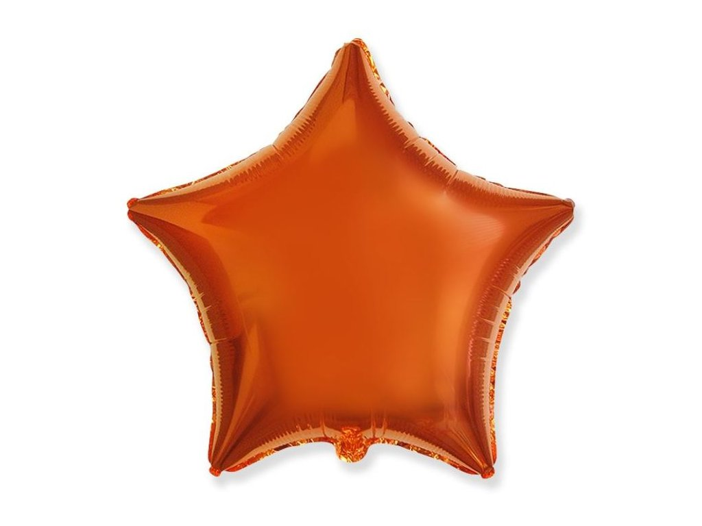 Balón foliový 45 cm Hvězda oranžová