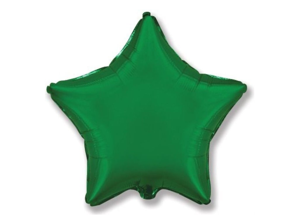 Balón foliový 45 cm Hvězda zelená