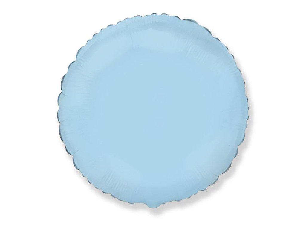 Balón foliový 45 cm Kulatý světle modrý