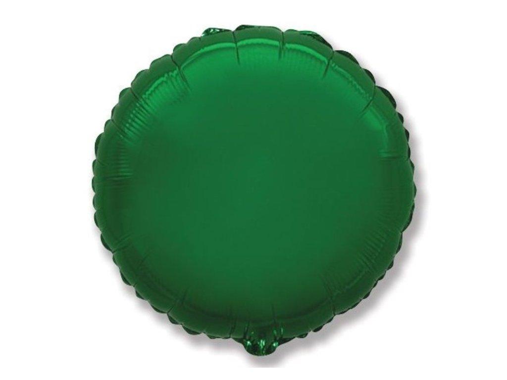 Balón foliový 45 cm Kulatý zelený