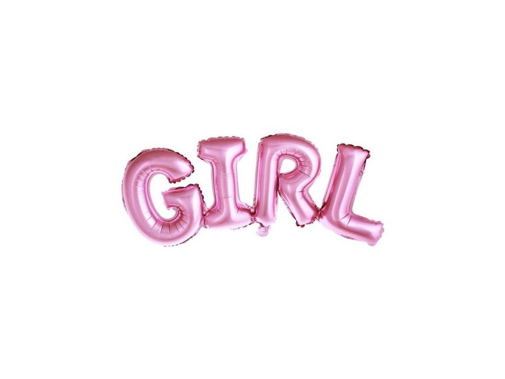 Balón foliový Girl, 74x33cm, RŮŽOVÝ (NELZE PLNIT HELIEM)
