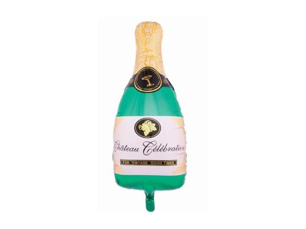 Balón foliový Láhev šampaňského - Champagne - Silvestr/HAPPY NEW YEAR - 84 cm