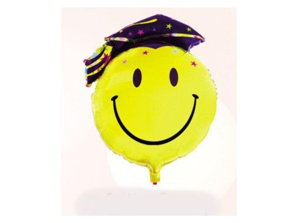 Balón foliový Smajlík - promoce 95 cm