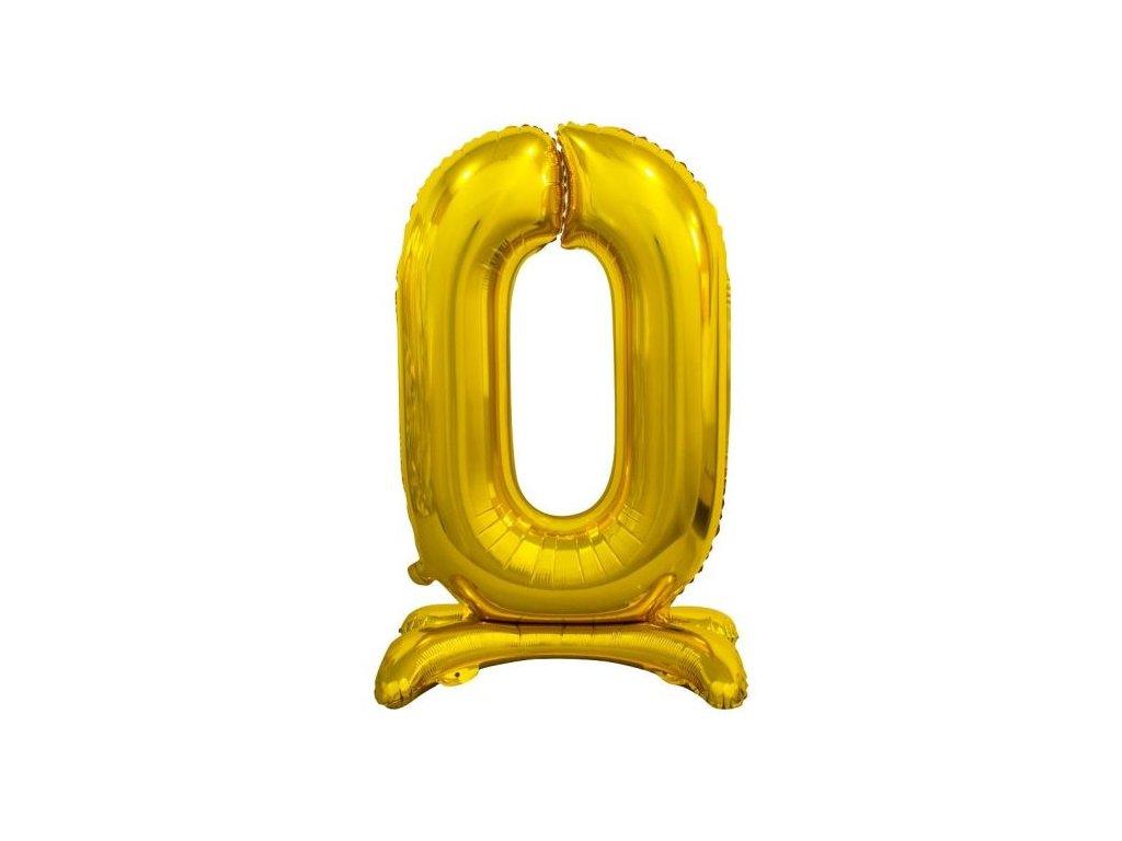 Balón foliový číslice ZLATÁ na podstavci , 74 cm - 0
