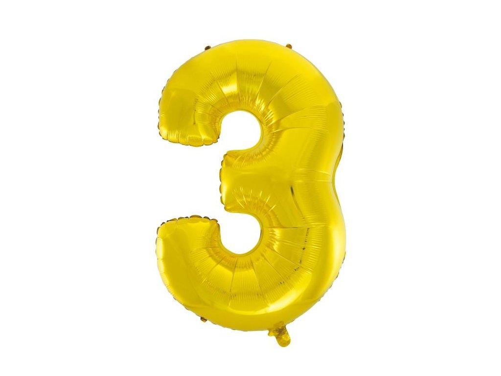 Balón foliový číslice ZLATÁ - GOLD 102 cm - 3