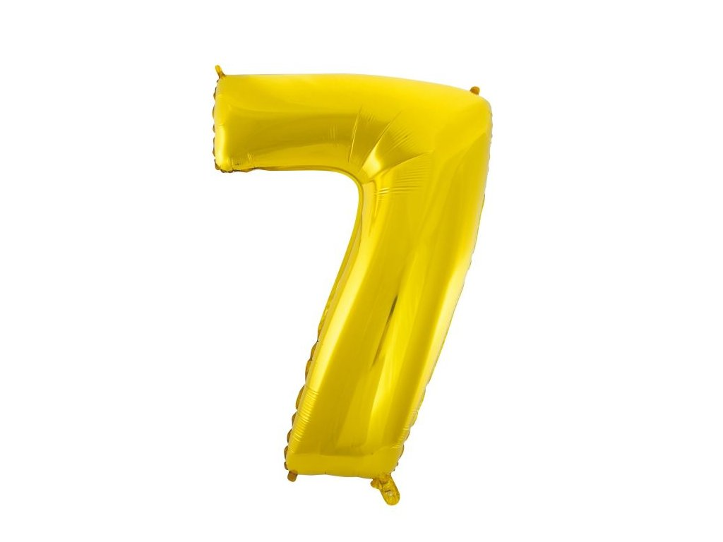 Balón foliový číslice ZLATÁ - GOLD 110 cm - 7