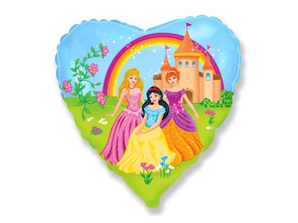Balón folivý srdce Princezny 45cm