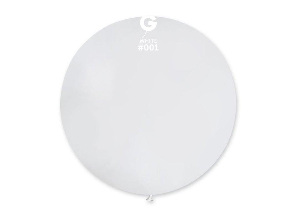 Balón latex 80 cm - bílý 1 ks