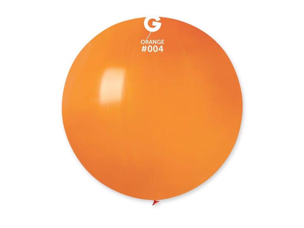 Balón latex 80 cm - oranžový 1 ks