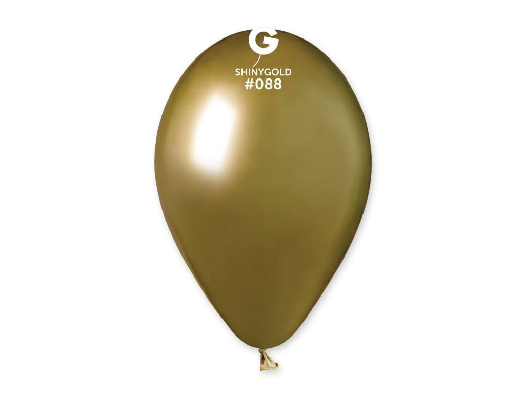 Balónek chromovaný 1 KS lesklý zlatý - průměr 33 cm