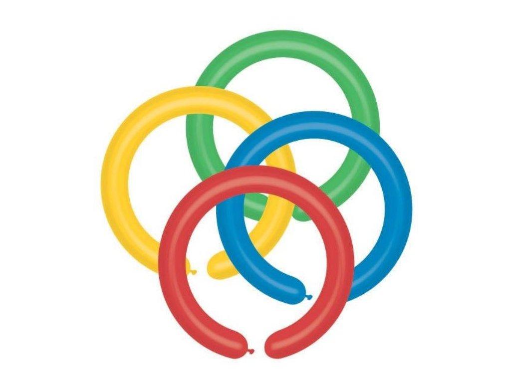 Balónek modelovací GEMAR úzké - barevný mix - 100 ks