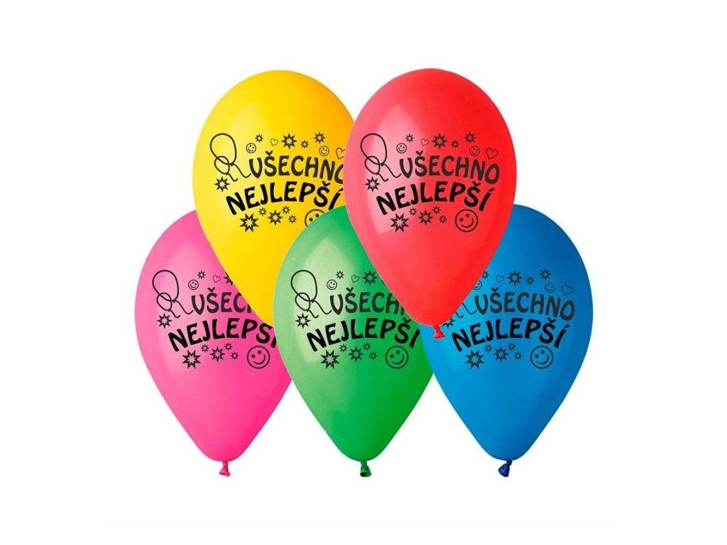 Balónek pastel 26 cm VŠECHNO NEJLEPŠÍ 1 ks