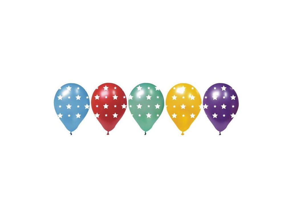 Balónky HVĚZDY - 28 cm -5 ks